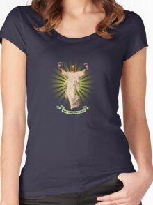 Does Thou Even Lift? Women's Fitted Scoop T-Shirt