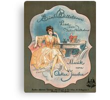 EIN BILLETDOUX  (vintage illustration) Canvas Print