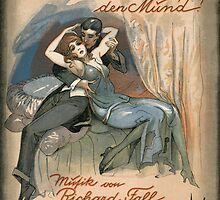 KUSS MICH NICHT AUF DEN MUND  (vintage illustration) by ART INSPIRED BY MUSIC