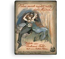 KUSS MICH NICHT AUF DEN MUND  (vintage illustration) Canvas Print