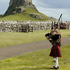 Piper at Lindisfarne by Christine Hingley
