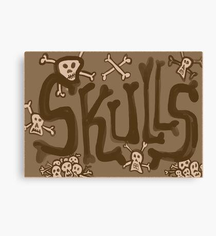 skulls vintage Canvas Print
