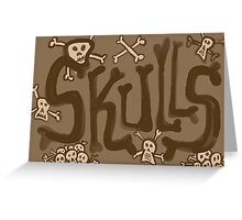 skulls vintage Greeting Card