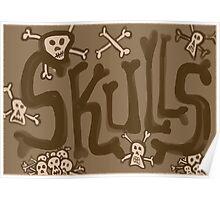 skulls vintage Poster