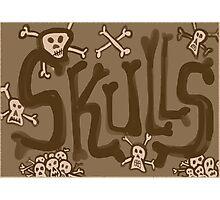 skulls vintage Photographic Print