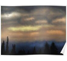 Dusky forest sky Poster