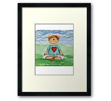 Live Love Yoga Bear  Framed Print