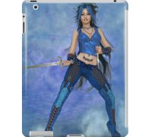 Blue Attiude Digital Art iPad Case/Skin