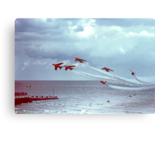 So Low - The Red Arrows, Broadstairs Kent -  1979 Canvas Print