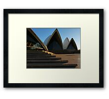 It's a step up! Framed Print