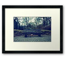 Horror Seat in the Woods Framed Print