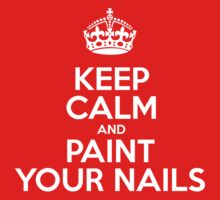 Keep Calm and Paint Your Nails - White Crown by sitnica