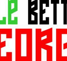 Maradona good, Pelè better, George... BEST Sticker