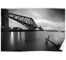 The Forth Rail Bridge crossing between Fife and Edinburgh, Scotland. Poster