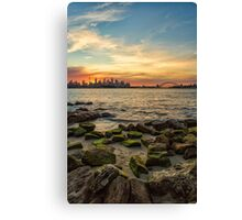 Sunset from Bradley's Head Canvas Print