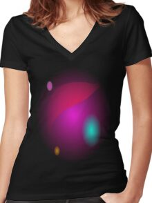 Pink Haze Women's Fitted V-Neck T-Shirt