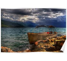 Incoming Storm at Lake Ohrid Poster