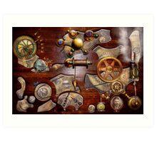 Steampunk - Gears - Reverse engineering Art Print