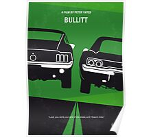 No214 My BULLITT minimal movie poster Poster