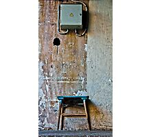 Electric stool Photographic Print