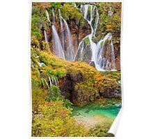 Autumn Waterfalls Poster