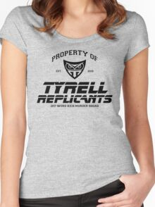 Property of Tyrell Replicants Off-World Kick-Murder Squad Women's Fitted Scoop T-Shirt