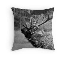 Morning Bugle_BW Throw Pillow