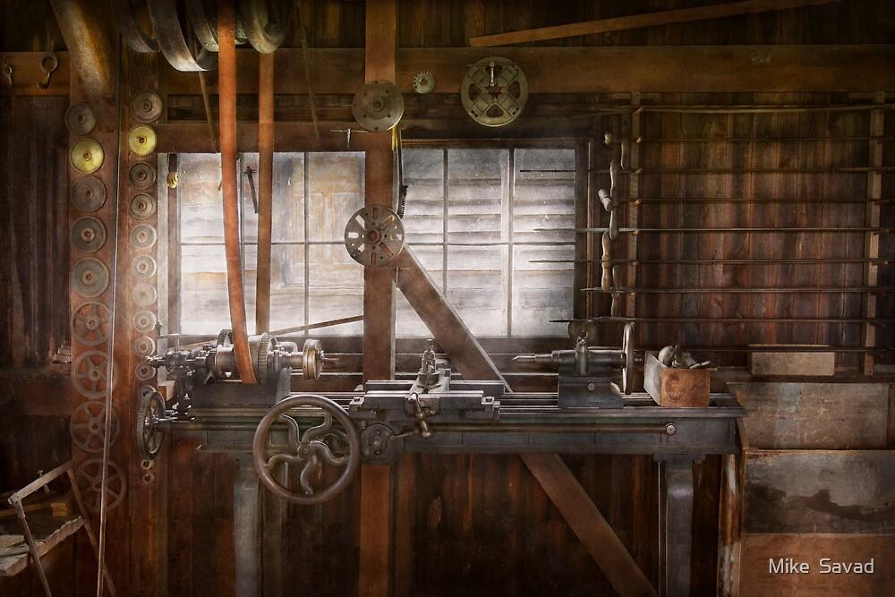 Steampunk - Machinist - My tinkering workshop  by Mike  Savad