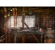 Steampunk - Machinist - My tinkering workshop  Photographic Print