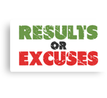 Results or Excuses | Fitness Slogan | Retro Canvas Print