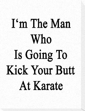 I'm The Man Who Is Going To Kick Your Butt At Karate  by supernova23