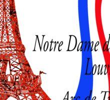 Paris sights and flag Sticker