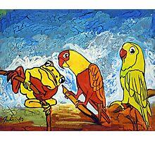 Parrots Office Photographic Print