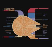 Falcon ships Schematics T-Shirt