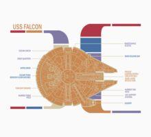 Falcon ships Schematics Baby Tee