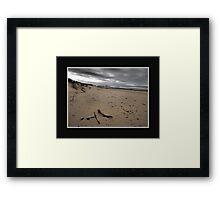 The Dull Seaside Framed Print