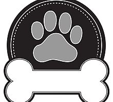 Dog Bone and Paw by Maria Bell