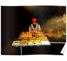 Ecuador Street Meat Vendors Poster