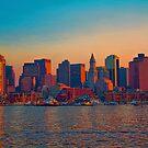 USA. Massachusetts. Boston. Downtown. Sunset. by vadim19