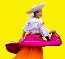 Dancer at Pase Del Nino in Cuenca Ecuador by Al Bourassa