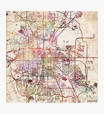 Denver map Photographic Print