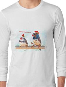 Festive Finches Long Sleeve T-Shirt