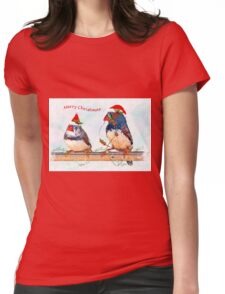Festive Finches Womens Fitted T-Shirt