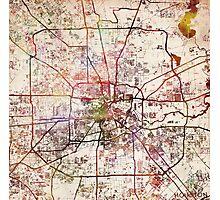 Houston map Photographic Print