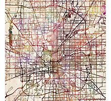 Indianapolis map Photographic Print