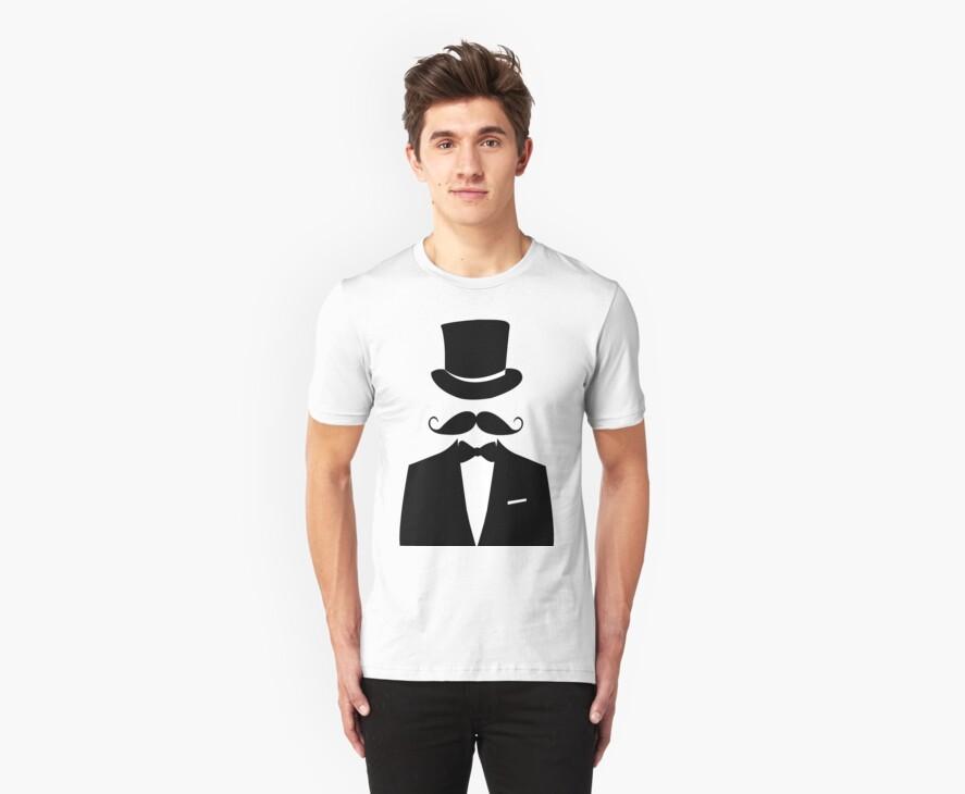 Distinguished Gentleman Moustache T-shirt by Inspyre