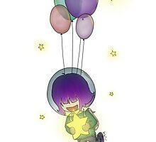 Space Ballon Girl by HebiIchigo