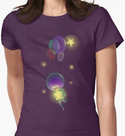 Space Ballon Girl Womens Fitted T-Shirt
