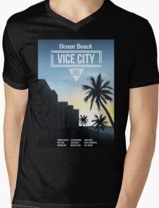 Vice City - Ocean Beach  Mens V-Neck T-Shirt
