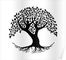 Lovers Tree of Life silhouette Poster